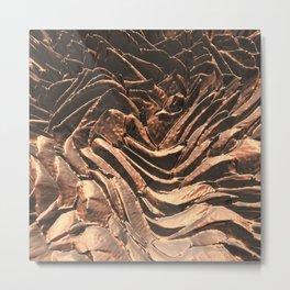 Macro Copper Abstract Metal Print