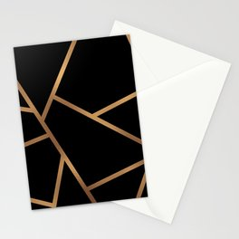 Black and Gold Fragments - Geometric Design Stationery Cards