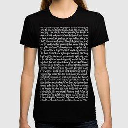 Love Letter Shakespeare Romeo & Juliet Pattern II T-shirt