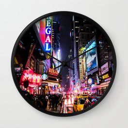 New York City Night Wall Clock