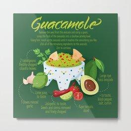 Recipe Guacamole Metal Print