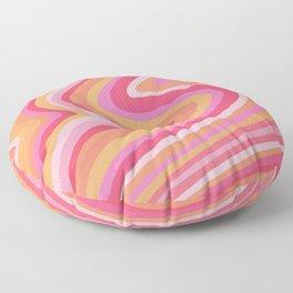 Sunshine Melt – Pink & Peach Palette Floor Pillow