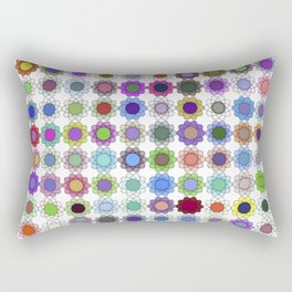 Pop art flowers procedurally generated Rectangular Pillow