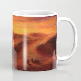 Sunset in the dunes of Sahara desert Coffee Mug