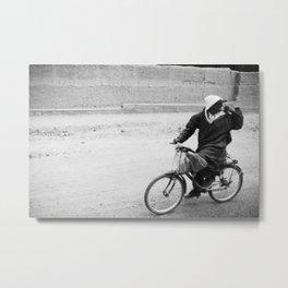 Bicycle Moroccan Metal Print