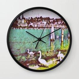 Swiss Swans VII Wall Clock