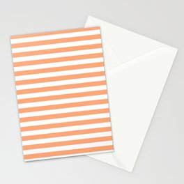 Cantaloupe and White Stripes Stationery Cards