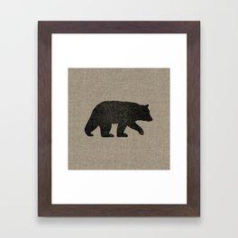 Black Bear Silhouette Framed Art Print
