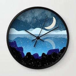 Snowed Midnight Wall Clock