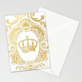 Gold Crown Stationery Cards