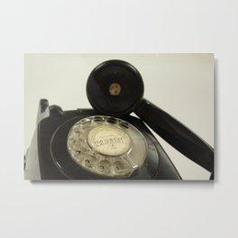 Vintage style rotary telephone Metal Print