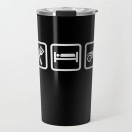 Eat Sleep Motorcycling - Biker Design Travel Mug