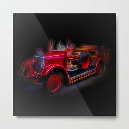 Fractal Red Car Vintage car Metal Print
