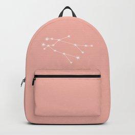 Gemini Zodiac Constellation - Pink Rose Backpack