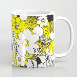 Floral Medley - Yellow Coffee Mug