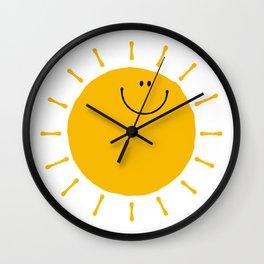 Smile Sunshine Wall Clock