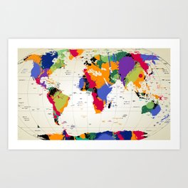 map Kunstdrucke