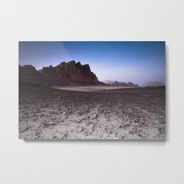 Wadi Rum rocky surreal desert landscape Metal Print