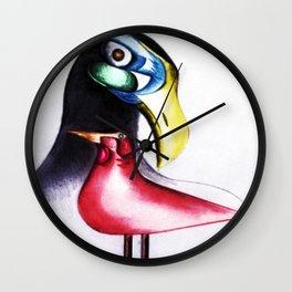 African American Masterpiece 'I Am Not A Mockingbird' portrait painting by E.J.Martin Wall Clock