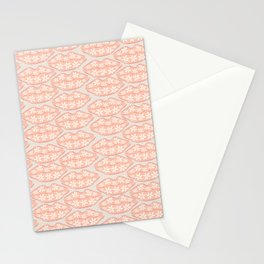 Hippie Daisy flower lips Stationery Cards