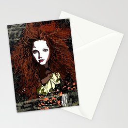 Redhead Girl Stationery Cards
