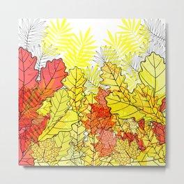 Gold autumn. Metal Print
