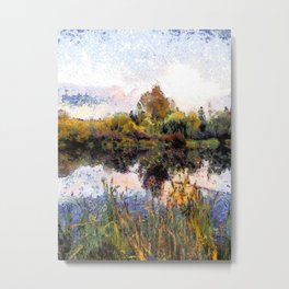 Late Afternoon Reflections on a Lake Metal Print
