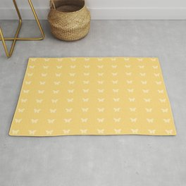 Minimal Butterfly Pattern - Yellow Rug