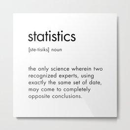 Statistics Definition Metal Print