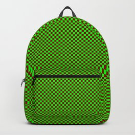 Green and burgundy squares Backpack