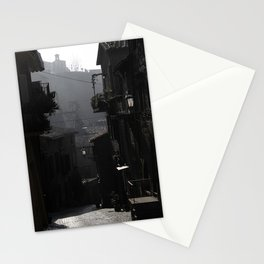 Fog Engulfs a Quiet Village Stationery Cards