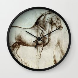 "Leonardo da Vinci ""Gran Cavallo"" Wall Clock"