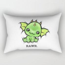 Baby Dragon Kawaii Rectangular Pillow