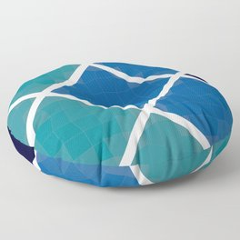 Green and blue squares Floor Pillow