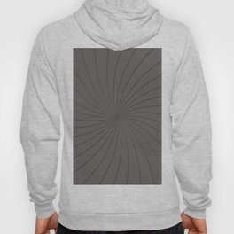 3D Pantone Pewter and Gold Thin Striped Circle Pinwheel Hoody