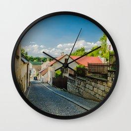 A street in Turnov Wall Clock