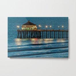 Ruby's Diner Huntington Beach Pier  2-20-12 Metal Print