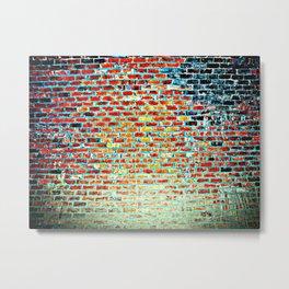 Brick Abstract Metal Print