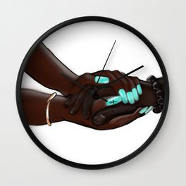 Touch: The Laying on of Hands Wall Clock