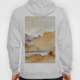 Cinnabar Mountain Yellowstone River Watercolour 1871 By Thomas Moran | Watercolor Reproduction Hoody