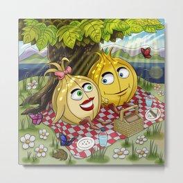 Summer Onion Buddies Metal Print