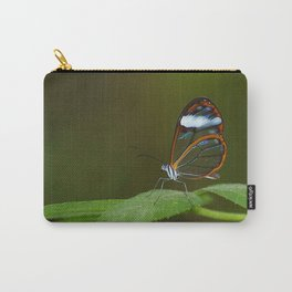 Glasswing Butterfly Carry-All Pouch
