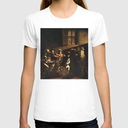 Calling of St. Matthew - Caravaggio T-shirt