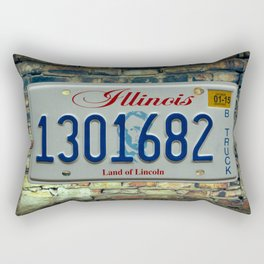 Illinois Truck Tag Land of Lincoln License Plate Automotive B Truck Rectangular Pillow