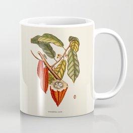Cocoa Bean Antique Botanical Illustration Coffee Mug