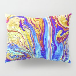 Blue fractals Pillow Sham