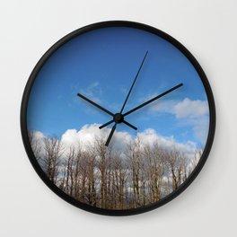 Blue Lined Skies Wall Clock