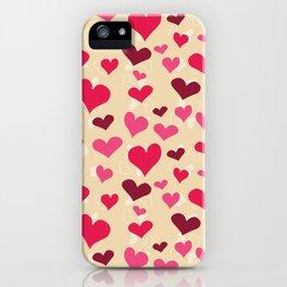 Valentine's Hearts 2 iPhone Case