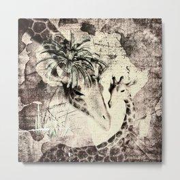 Afrikas Giraffen Metal Print