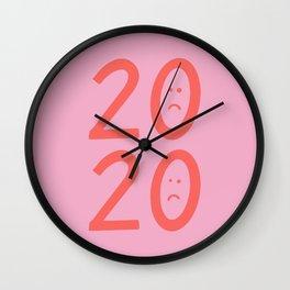 2020 Unhappy Emoji Year Wall Clock